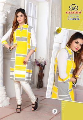 Manini Yellow Cotton Kurti