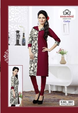 Manini Multicolor Cotton Kurti