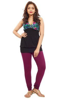 Manini FireBrick Cotton Premium Leggings