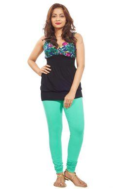 Manini Aquamarine Cotton Premium Leggings