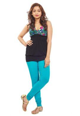 Manini DarkTurquoise Cotton Premium Leggings