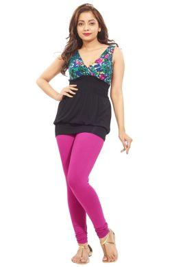Manini DeepPink Cotton Premium Leggings