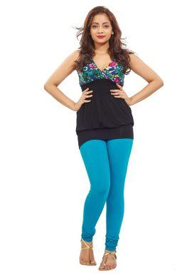Manini LightSeaBlue Cotton Premium Leggings