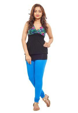 Manini Blueish Cotton Premium Leggings