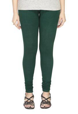 Manini Deep Green Cotton Leggings