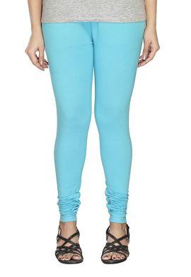 Manini Sky Blue Cotton Leggings
