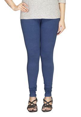 Manini Blue Cotton Leggings