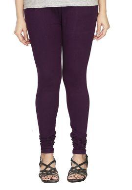 Manini Dark Purple Cotton Leggings