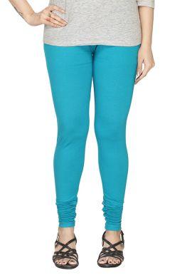 Manini Light Blue Cotton Leggings