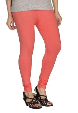 Manini Peach Pink Cotton Leggings