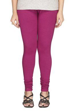 Manini Purple Cotton Leggings