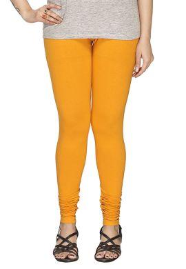 Manini Deep Yellow Cotton Leggings