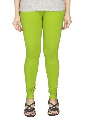 Manini Light Green Cotton Leggings