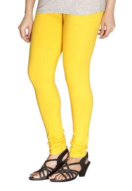 Manini Light Yellow Cotton Leggings