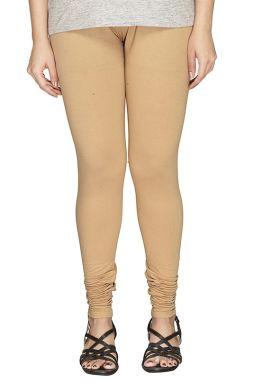 Manini Beige Cotton Leggings