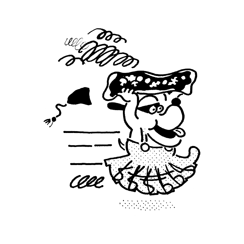 dog character illustration