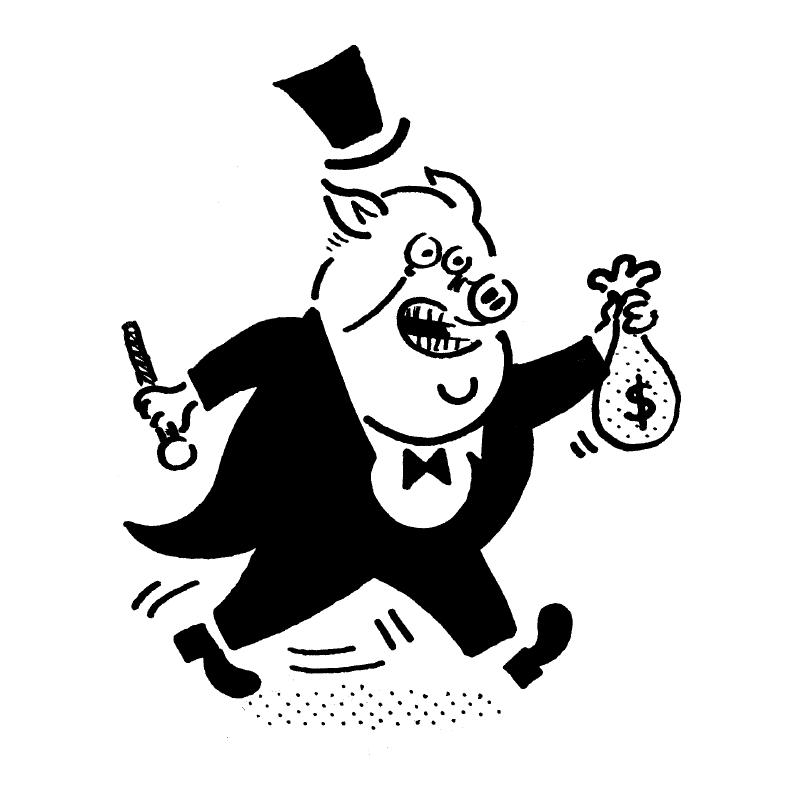 pig character illustration