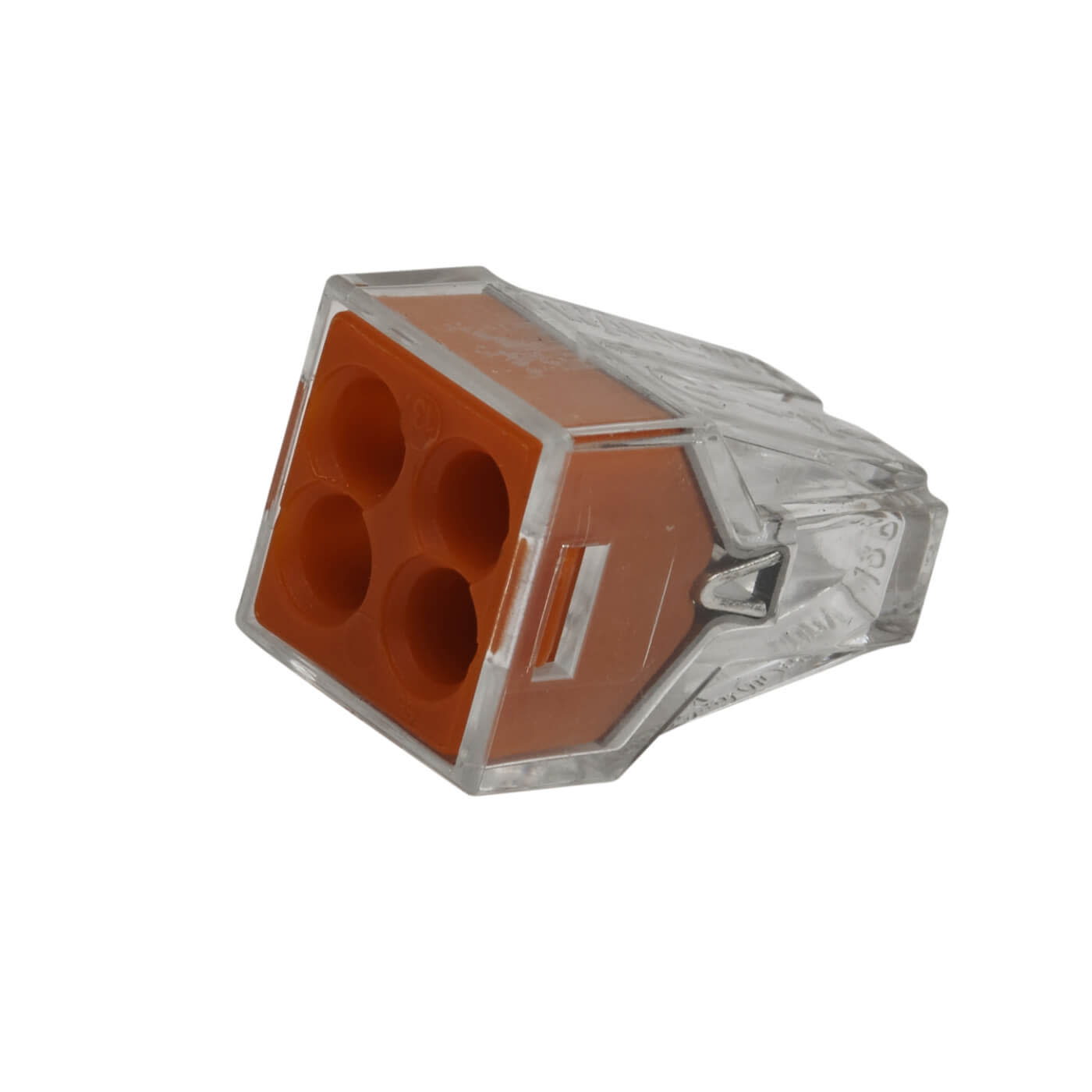 Wago 4W Push Wire Connector - Red - Pack 10)