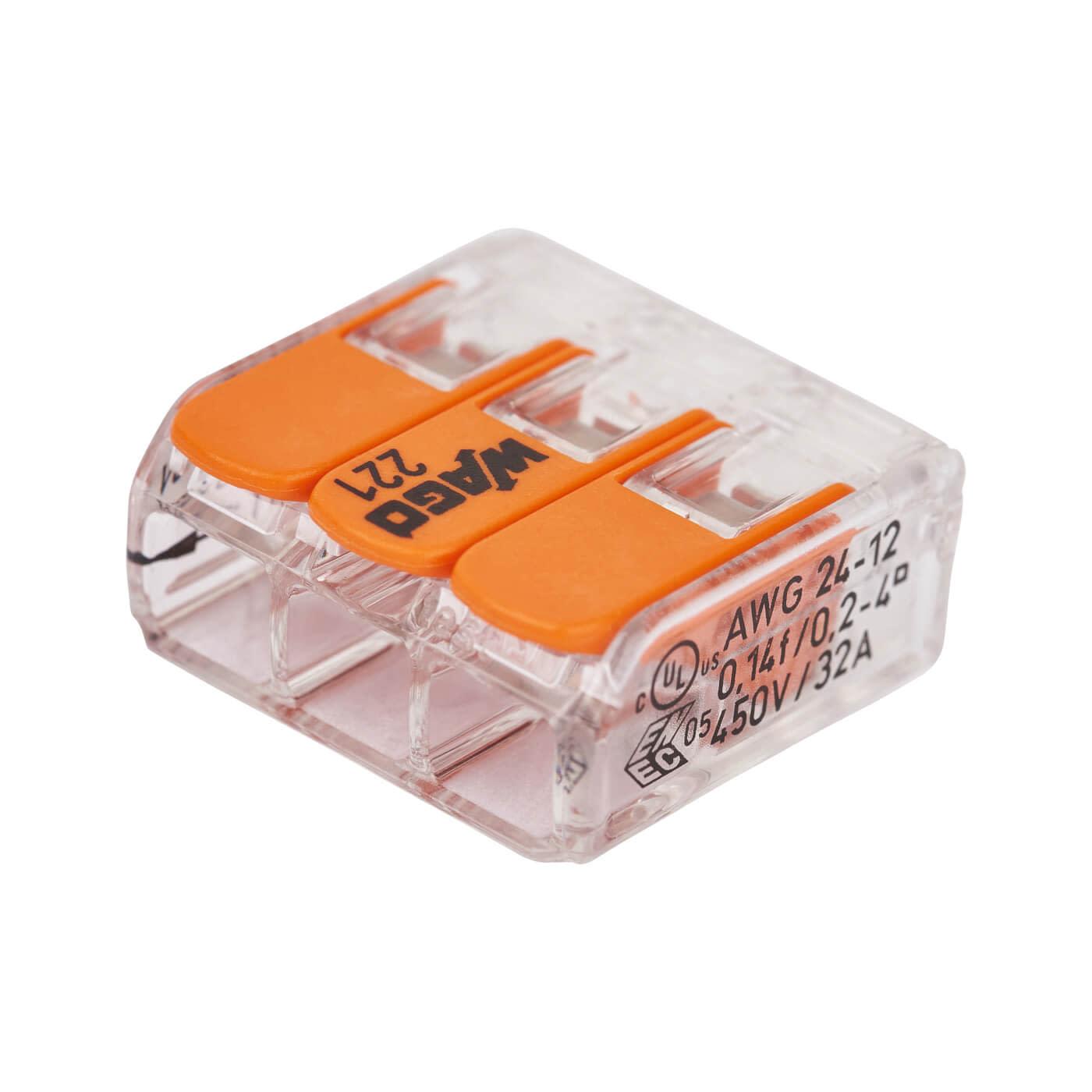 Wago 3 Way Compact Splicing Connector)
