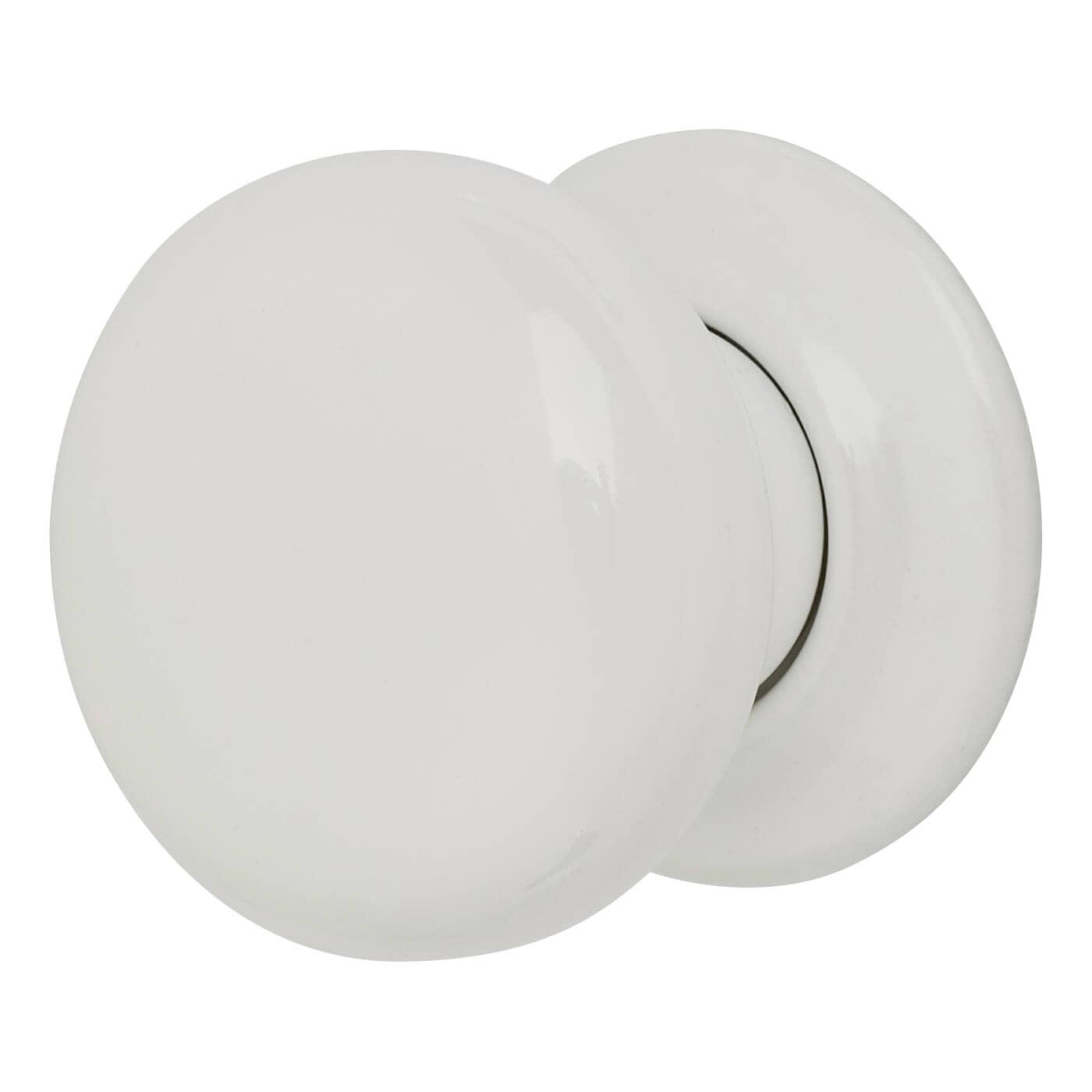 Porcelain Knobset - 57mm - White)