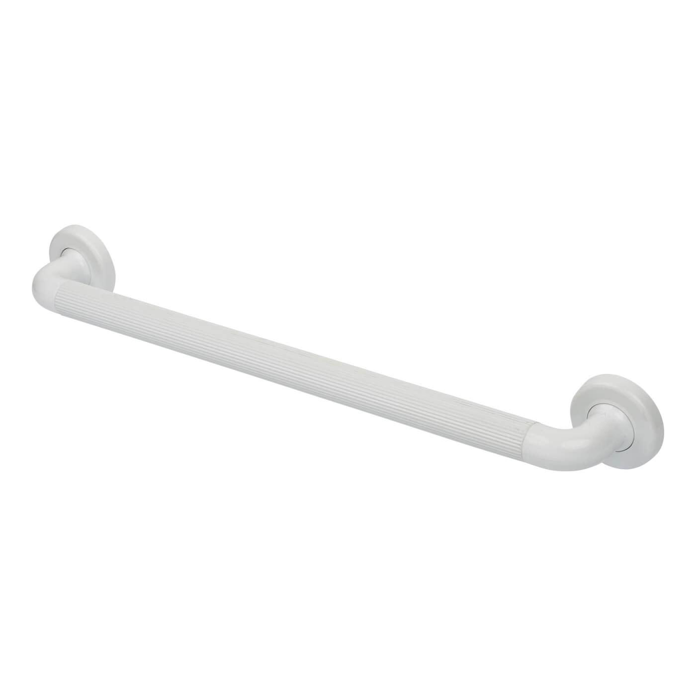 Nymas 36mm Plastic Fluted Grab Rail - 610mm - White)