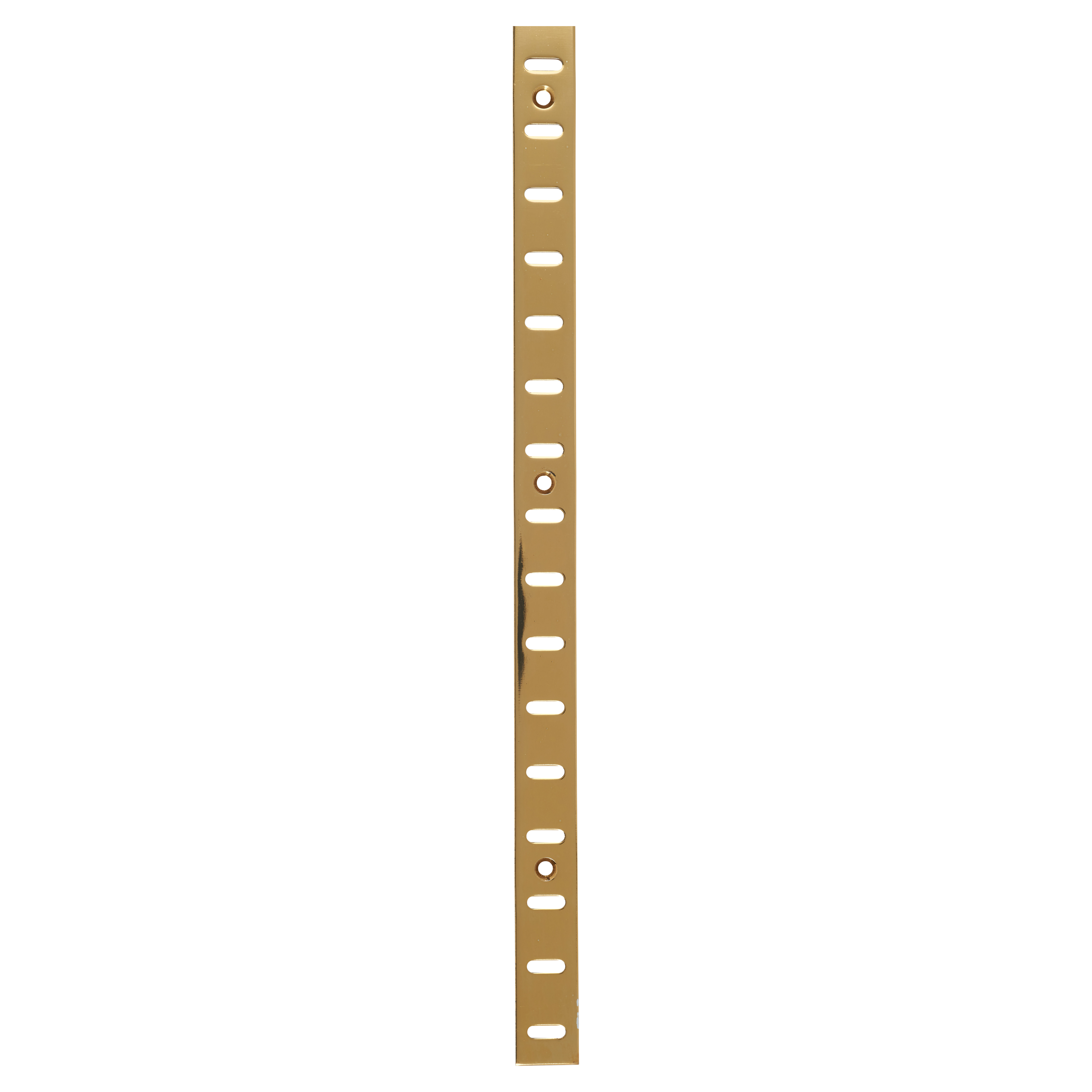 ION Flat Bookcase Strip - 1829 x 19mm - Electro Brass Plated)