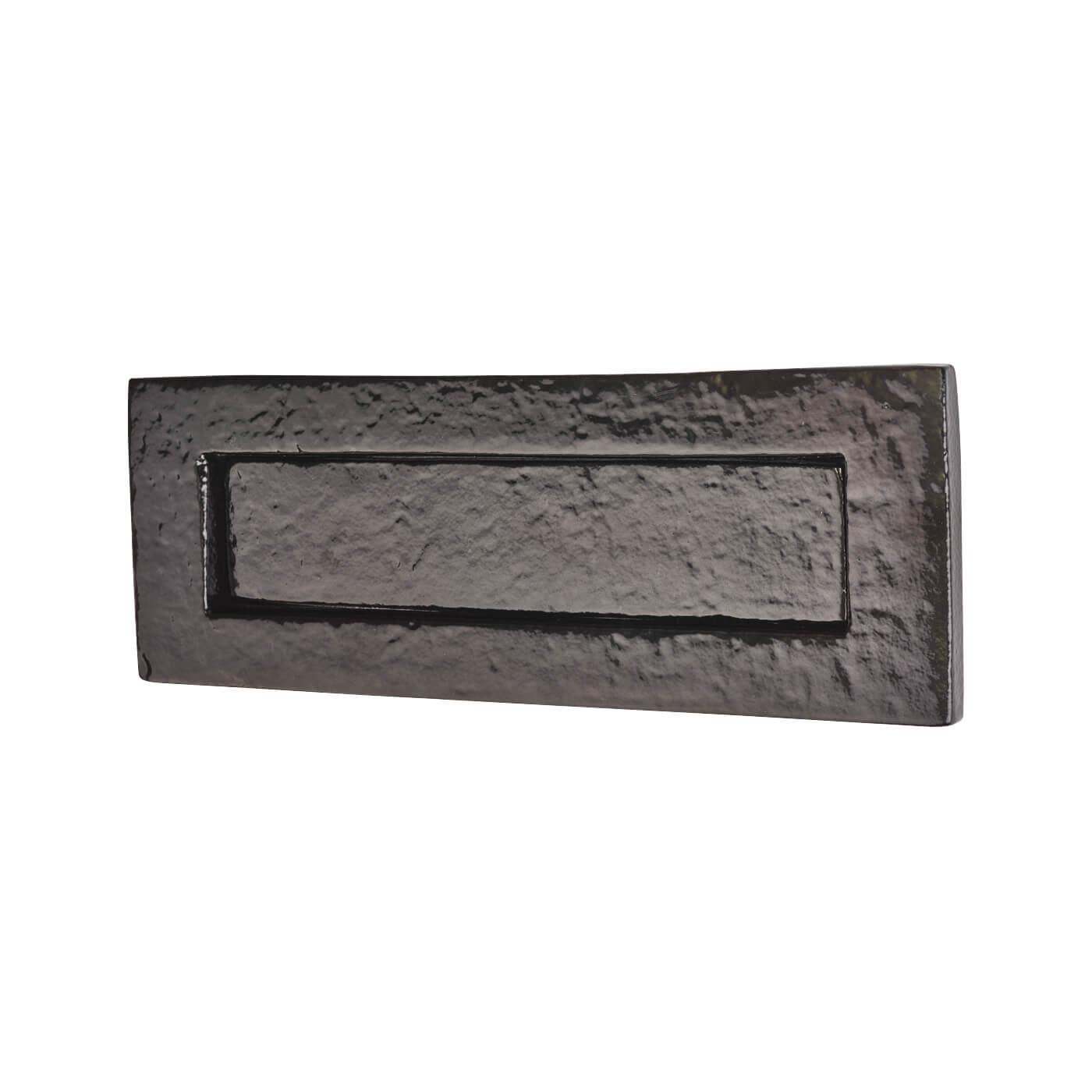 Colonial Plain Letter Plate - 254 x 90mm - Metalized Antique Black Iron)