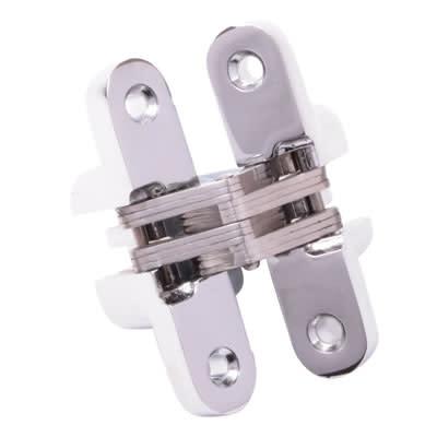 Tago Concealed Hinge - 117 x 25mm - Polished Chrome - Pair)