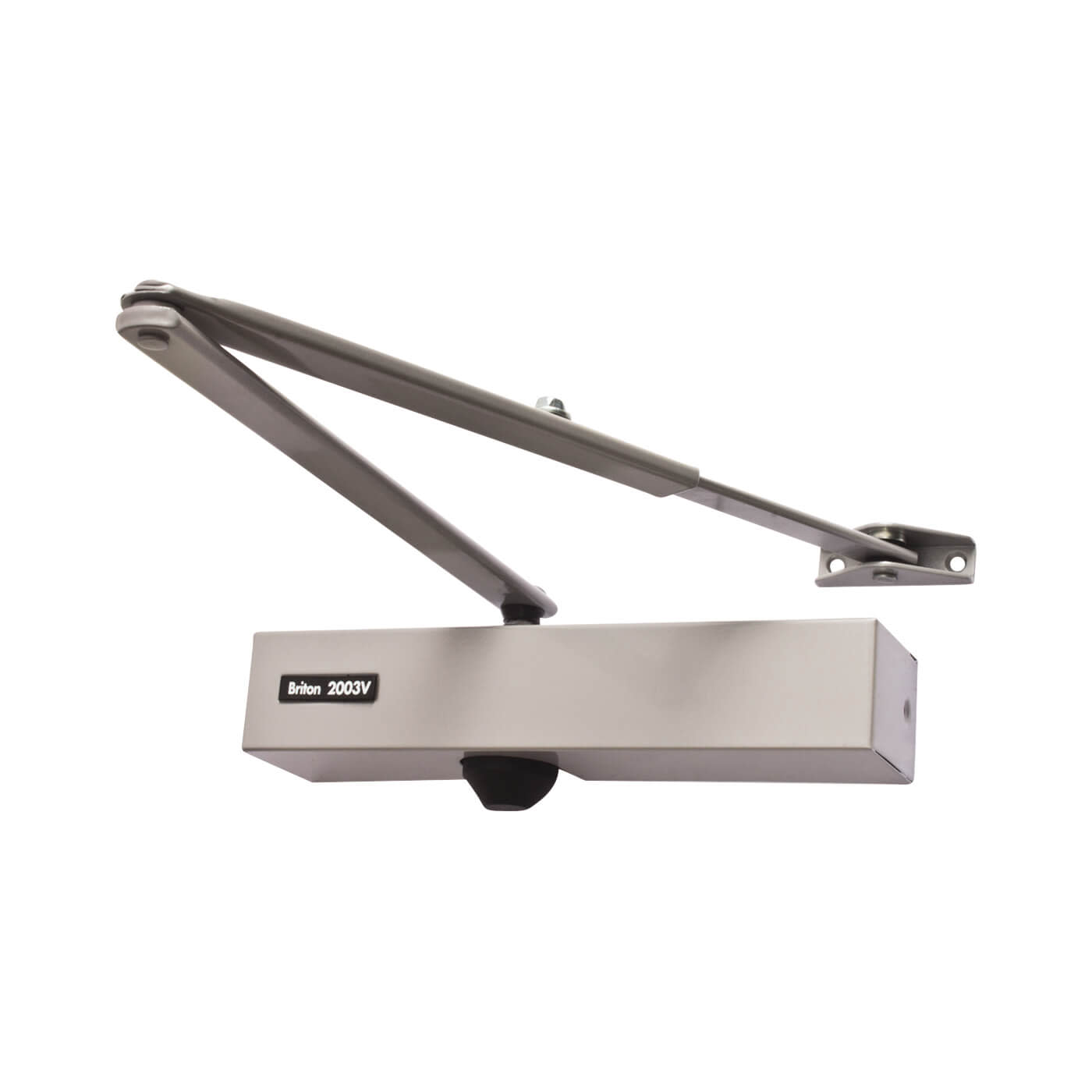 Briton 2003V Door Closer - Silver Arm/Cover)
