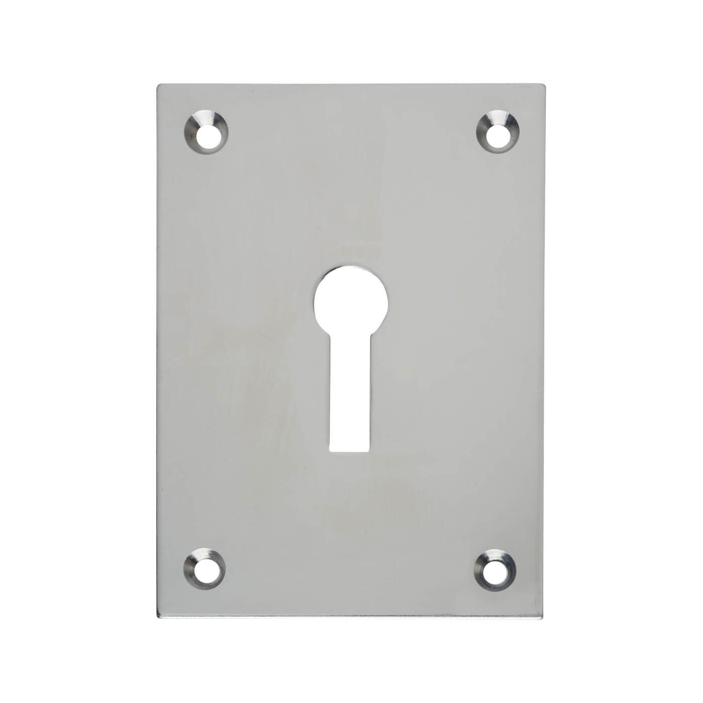 Jumbo Escutcheon - 65.5 x 47.6mm - Keyhole - Polished Chrome)