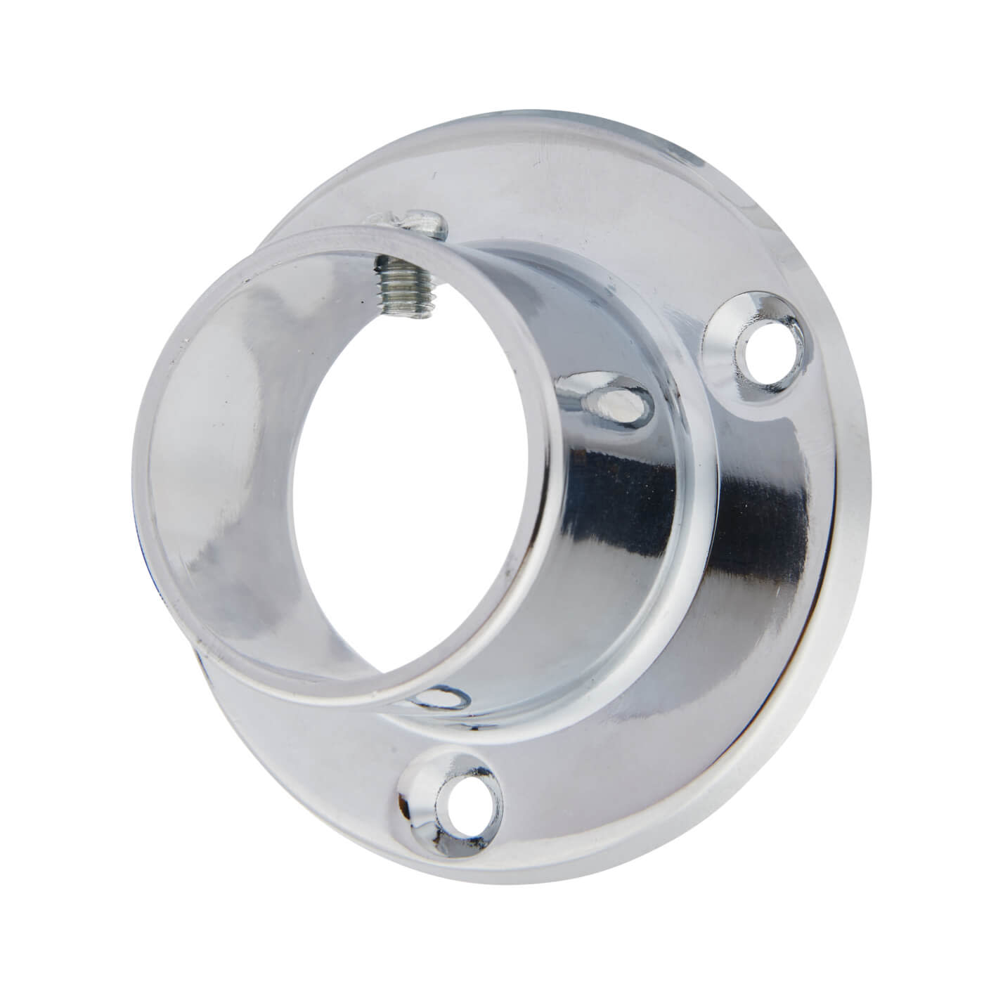 Tube End Socket Pack With Locking Grub Screws - 32mm - Chrome - Pack 2)