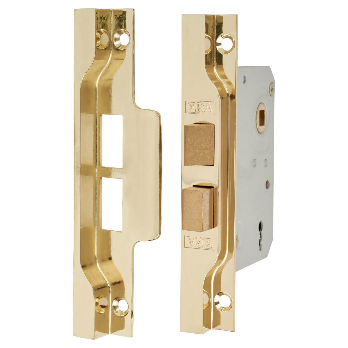 ERA® 2 Lever Rebated Sashlock - 77mm Case - 56mm Backset - Electro Brass)