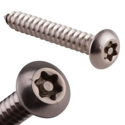 Hafren 6-Lobe Pin Self Tapping Screws - 8 x 1