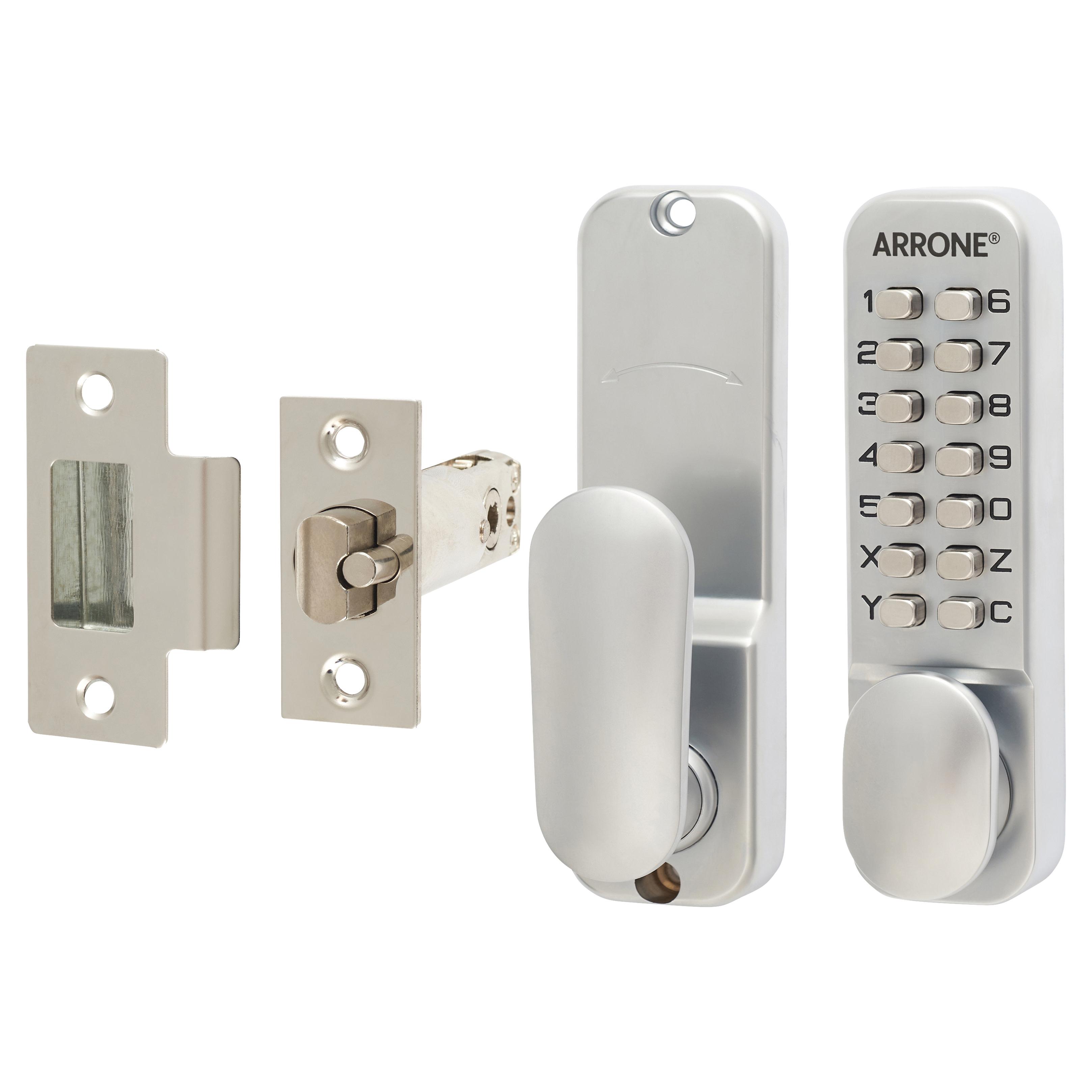 Arrone® Code Lock - Holdback Option - Satin Chrome Plated)
