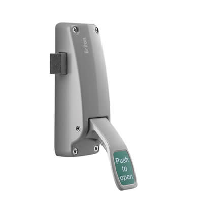 Briton 1438E Single Door Push Pad Latch)