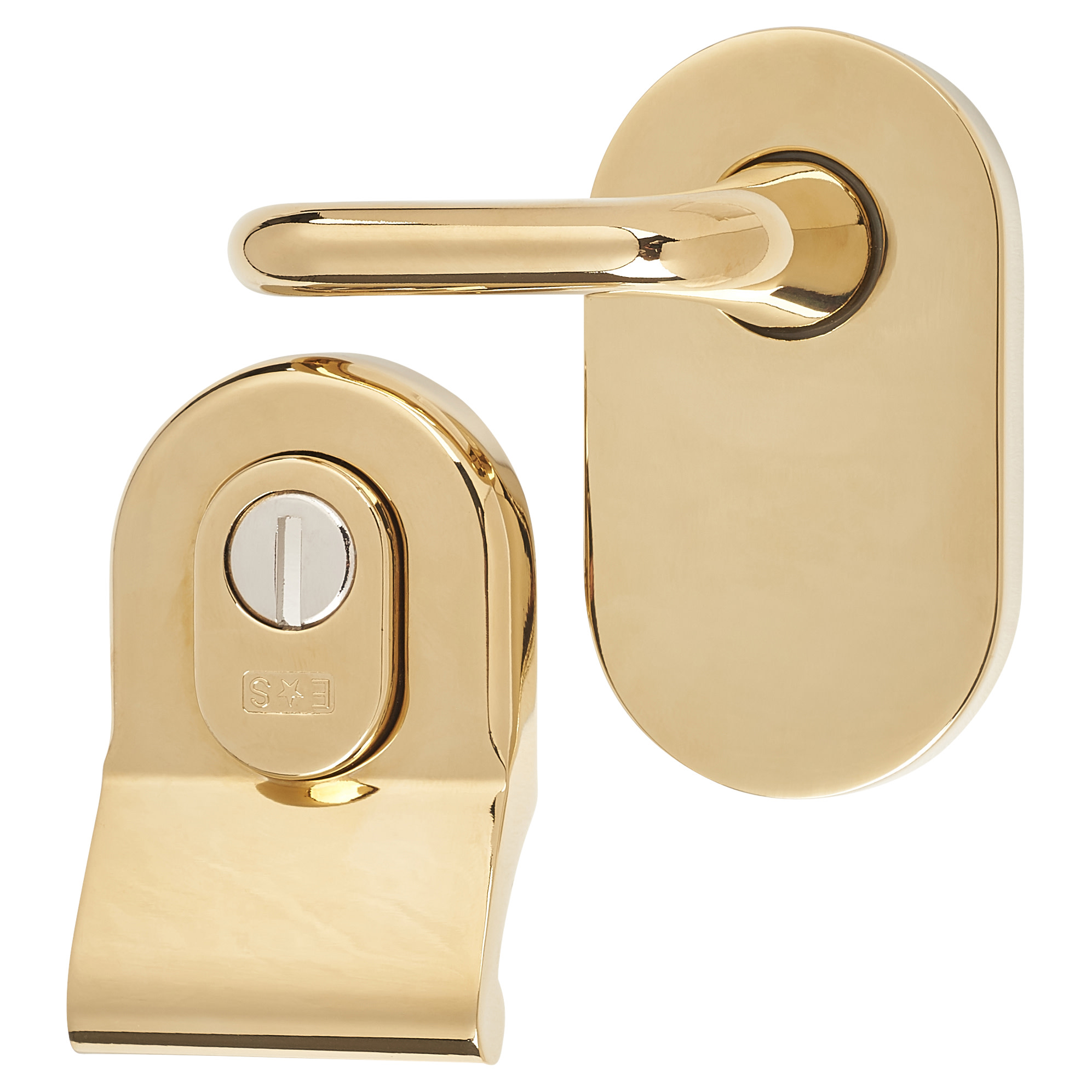 A-Spec Cylinder Pull and Disabled Turn for Mortice Nightlatch - PVD Brass)