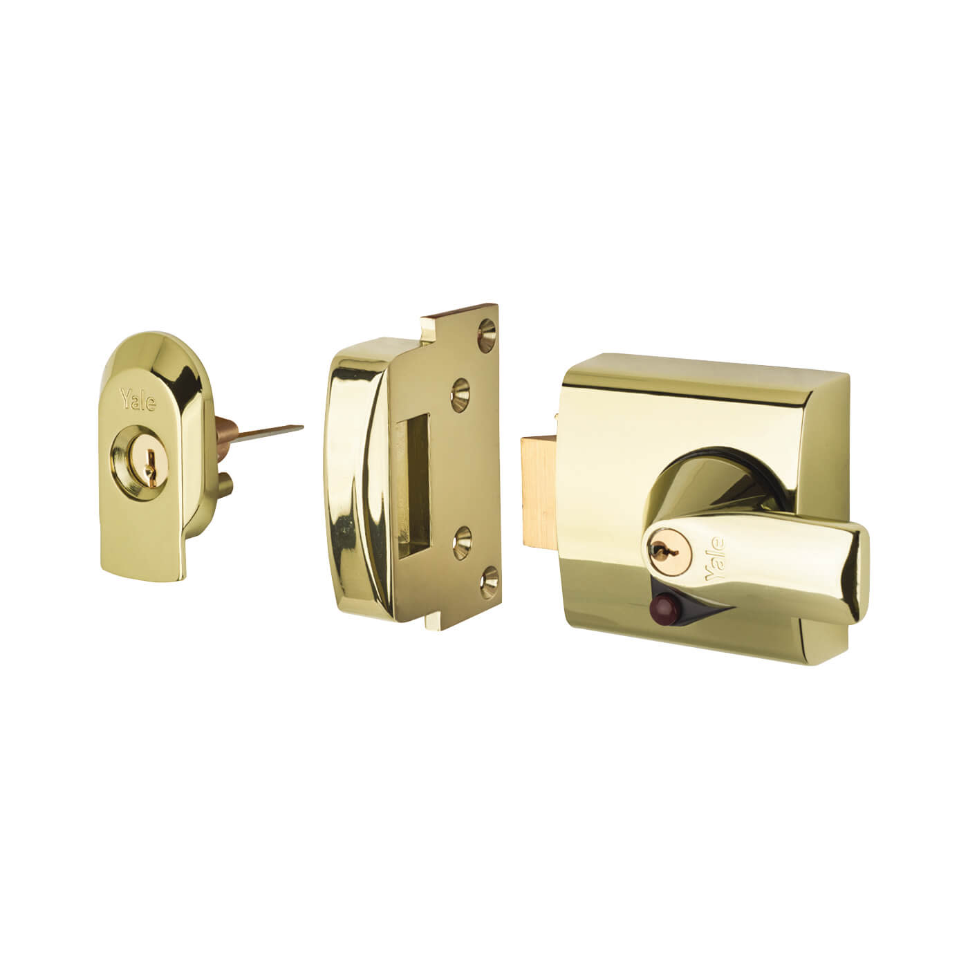 Yale® PBS1 BS3621:2007 Nightlatch - 60mm Backset - Polished Brass)