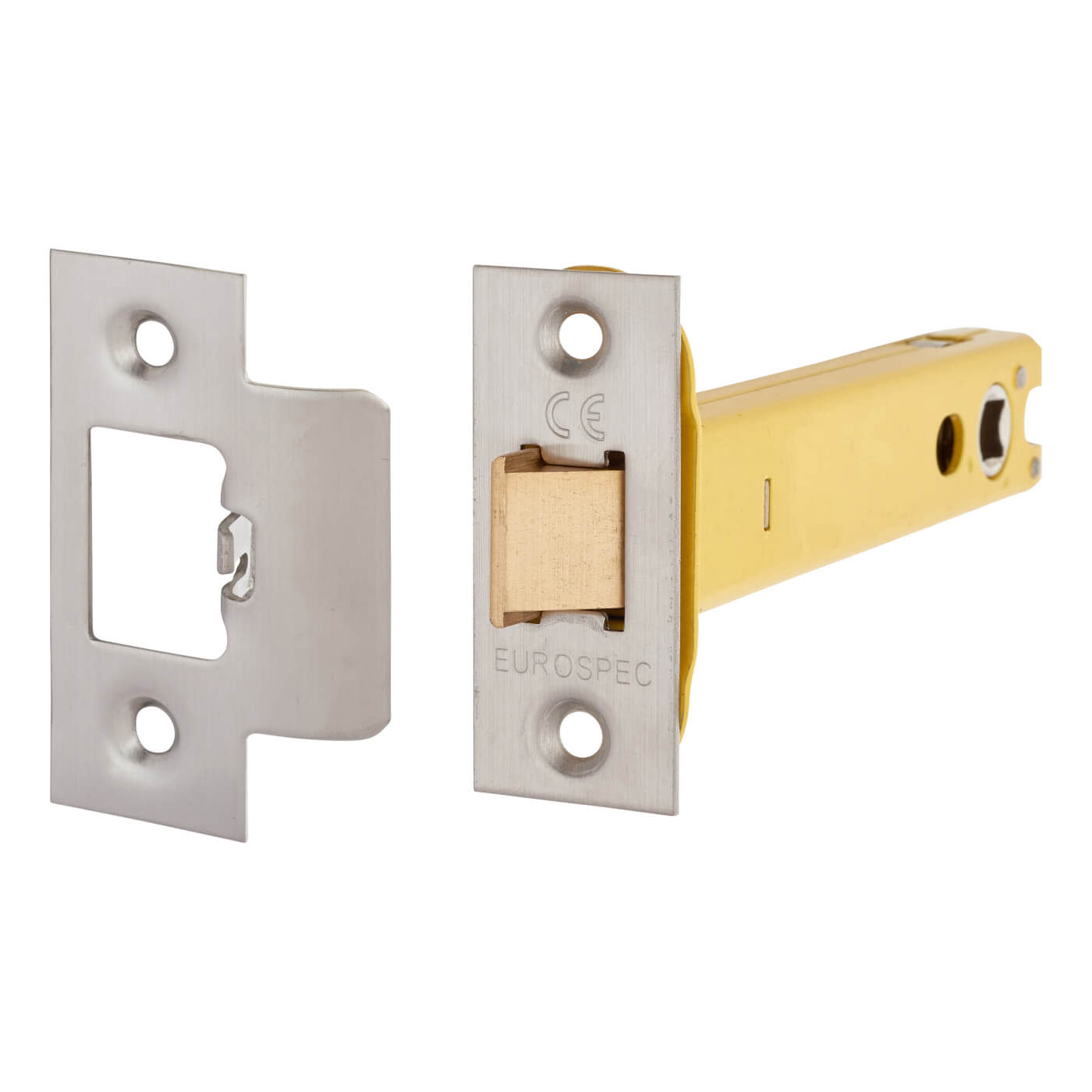 Altro Heavy Duty Tubular Latch - 128mm Case - 107mm Backset - Satin Stainless )