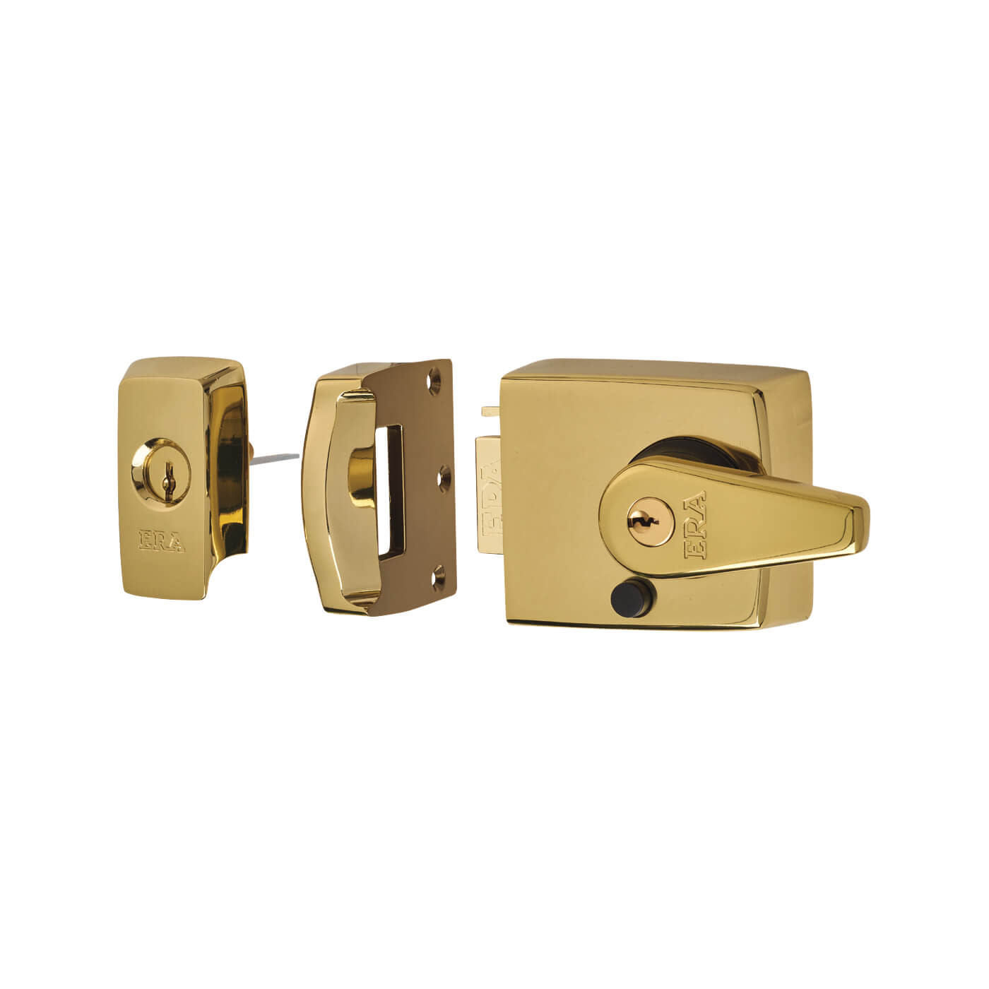 ERA® BS3621:2007 Double Locking Nightlatch - 60mm Backset - Brass Effect)