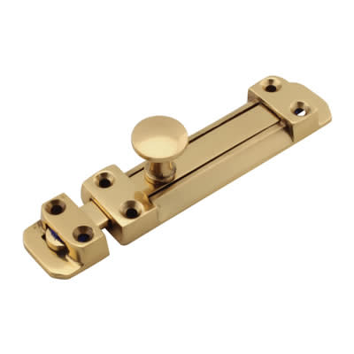 Flat Section Bolt - 115 x 25mm - Polished Brass)