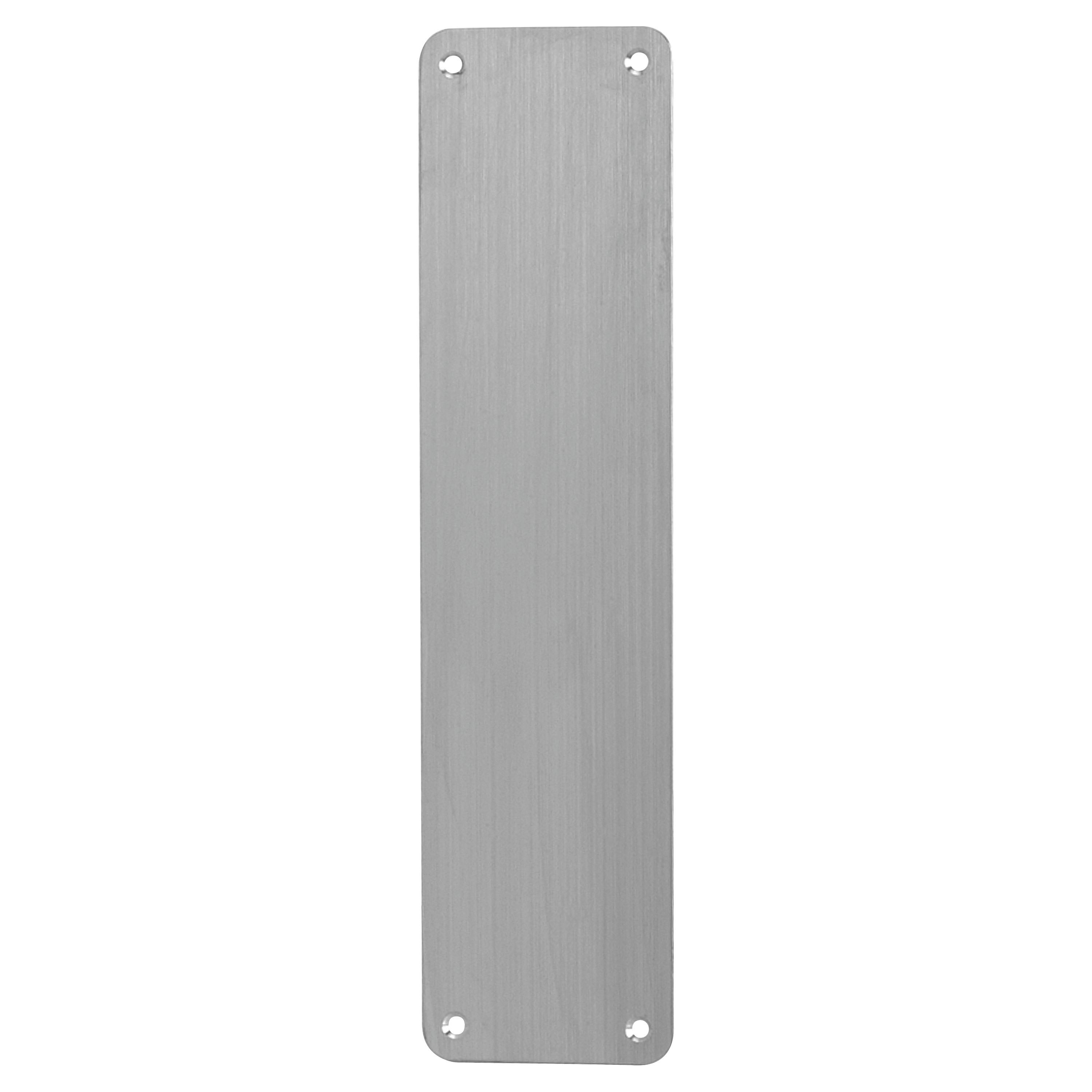Altro Plain Finger Plate - 375 x 75 x 1.5mm - Satin Stainless)