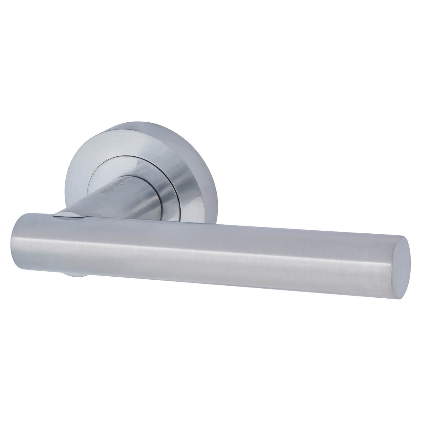Touchpoint Bella Lever Door Handle on Rose - Satin Chrome)