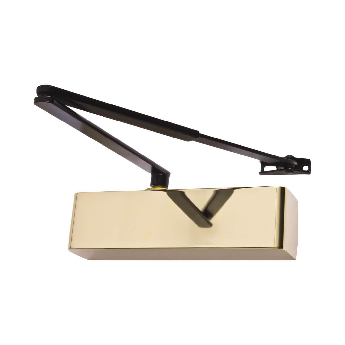 Arrone® AR1500 Door Closer - Black Arm - Brass Cover)
