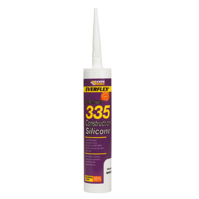 Everbuild 355 Construction Silicone - 310ml - White)