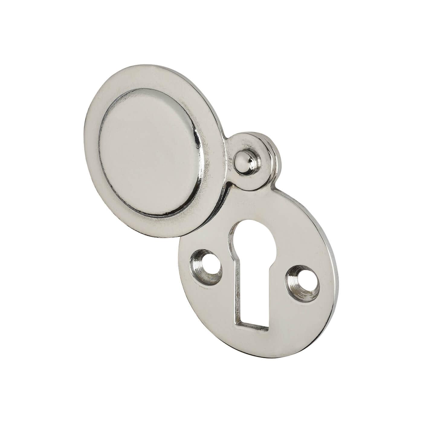 Victorian Covered Escutcheon - Keyhole - Polished Chrome)
