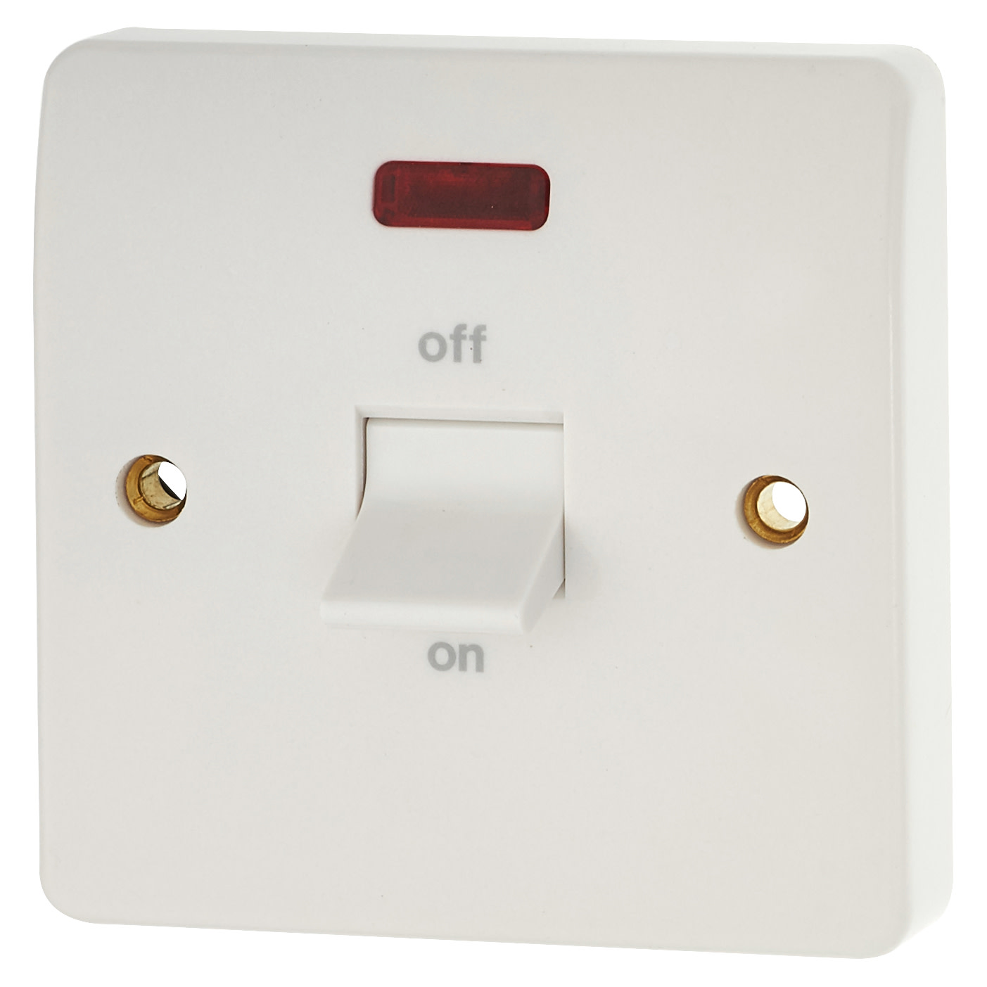 MK Logic Plus 32A 1 Gang Double Pole Cooker Switch - White)