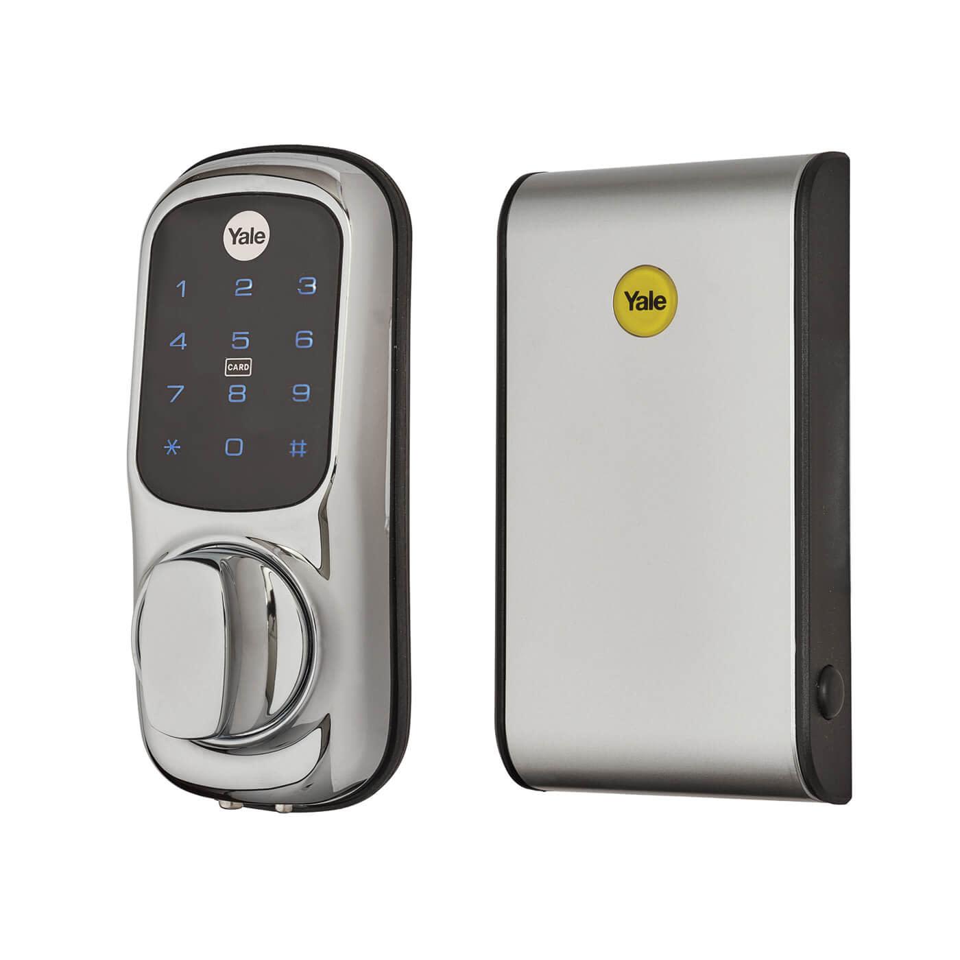 Yale Keyless Nightlatch Connected Ready Smart Lock - No Module - Silver)