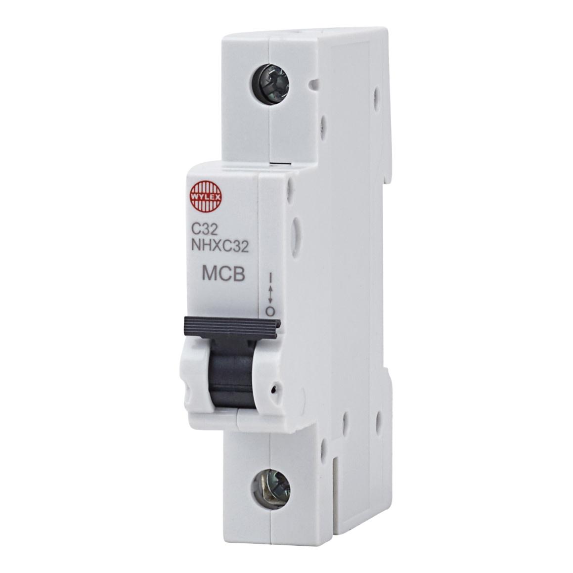 Wylex 32A NH Single Pole MCB - Type C )