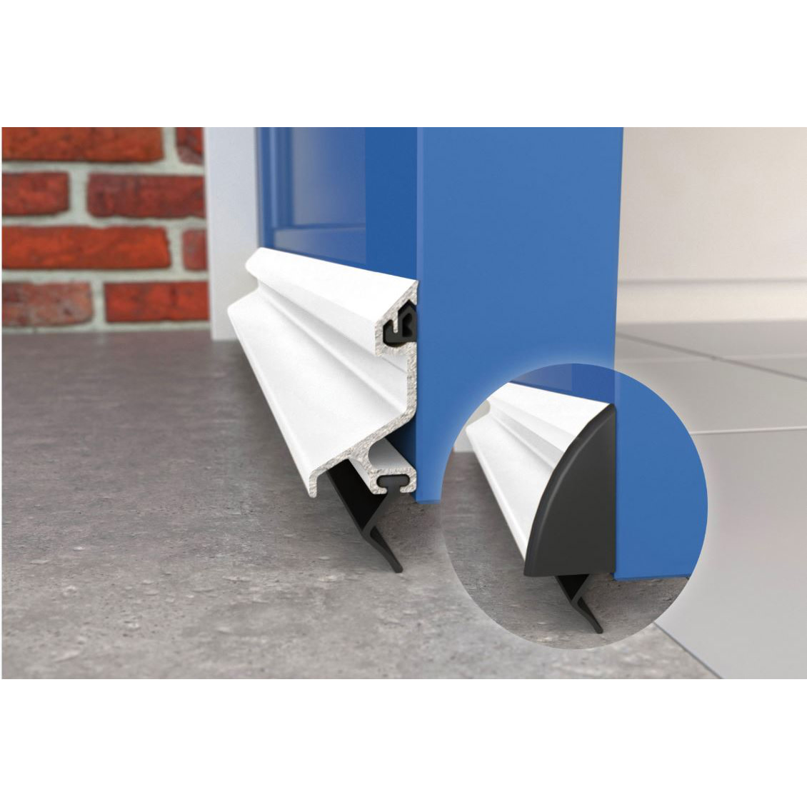 Exitex Standard Rain Deflector and Drip Bar - 914mm - White)