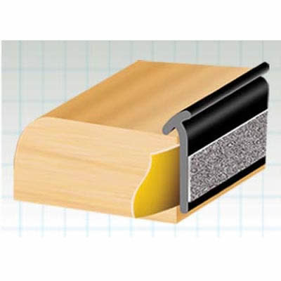 Exitex Lipped Glazing Tape - 33 metres - Black)